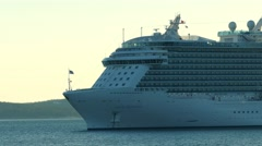 Regal Princess a Royal-class cruise ship close up Stock Footage