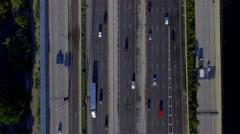 Highway tilt up to landscape 4k Stock Footage
