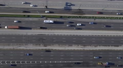 Aerial still above highway Stock Footage