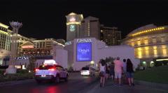 Las Vegas entrance Caesars Palace Stock Footage