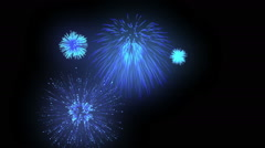 Fireworks combination on black background Stock Footage