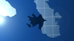 Azerbaijan. Zooming into Azerbaijan on the globe. Stock Footage