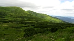 Green alpine Carpathians Stock Footage