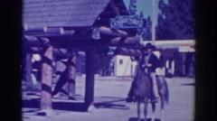 1938: cowboy rode into town. EL DORADO CITY CALIFORNIA Stock Footage