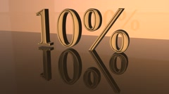 Growing interest in the gold mountain Stock Footage