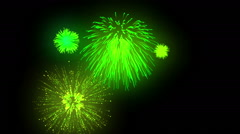 Fireworks looping combination on black background Stock Footage