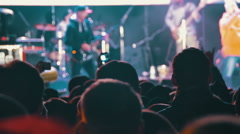 Crowd on Rock Concert Stock Footage