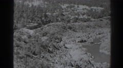 1938: old black and white video of a landscape OROVILLE CALIFORNIA Stock Footage