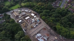 Aerial view of a new housing development. Stock Footage