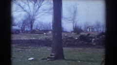 1958: campers and rv's parked by trees in the yard. YORK NEBRASKA Stock Footage