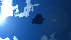 Belorusia. Zooming into Belorusia on the globe. Stock Footage