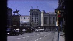 1967: street view with traffic BRISBANE AUSTRALIA Stock Footage