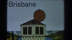 1967: artistic drawing house built big balloon like BRISBANE AUSTRALIA Stock Footage
