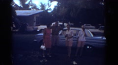 1967: a pleasant group picture taken outside during the 1950's FORT LAUDERDALE Stock Footage