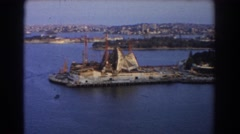 1967: a coast like place and dock with oceanic water SYDNEY AUSTRALIA Stock Footage