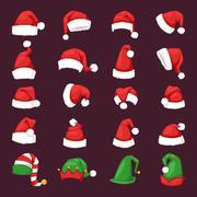Santa christmas hat vector illustration Stock Illustration