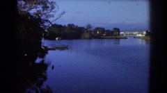 1967: a quiet sighting of the lake with boats afloat. SYDNEY AUSTRALIA Stock Footage