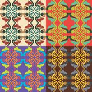 Set of vector seamless patterns Stock Illustration