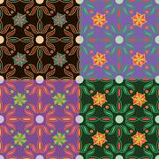 Set of vector seamless patterns Stock Illustration