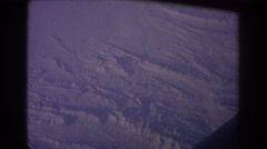 1967: view from an airplane going across a frozen tundra SYDNEY AUSTRALIA Stock Footage