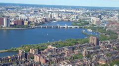 View of the Boston Harbor where the famous Tea Party occurred. Stock Footage
