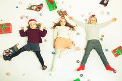 Merry Christmas 2016 Black Friday Cute little kids Kuvituskuvat