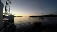 Time lapse over Frenchman Bay Stock Footage