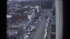 1967: city life viewing from the balcony. MELBOURNE AUSTRALIA Stock Footage