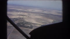 1967: taking a plane ride over the open country fields and roads PERTH AUSTRALIA Stock Footage