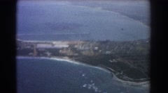 1967: bay of ocean between lands makes the nature very lovely PERTH AUSTRALIA Stock Footage