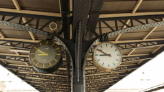 Paris France clock watch Stock Footage