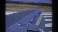 1967: airplane wing during takeoff PERTH AUSTRALIA Stock Footage