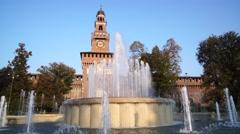 Sforza castle Stock Footage
