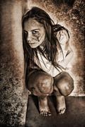 Girl ghost crazy scream Kuvituskuvat
