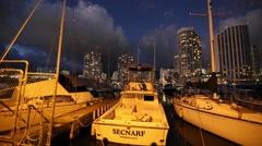Sailing boats Honolulu Stock Footage