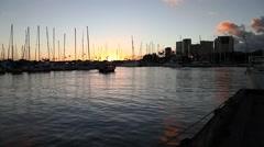 Honolulu waterfront Oahu Stock Footage