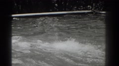 1937: lap swimming with a shower cap on SOUTHHAMPTON NEW YORK Stock Footage