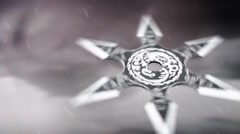A Japanese Ninja Shuriken Flying in the Air Arkistovideo
