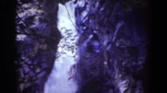 1939: waterfall fast flowing MOUNT WASHINGTON NEW HAMPSHIRE Stock Footage