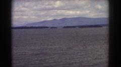 1939: breathtaking view of a huge lake. MOUNT WASHINGTON NEW HAMPSHIRE Stock Footage