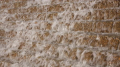 Cascading Water Background - Waterfall Down Concrete Steps Stock Footage