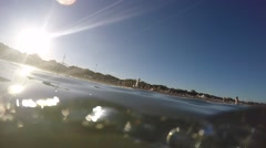 An accident on the beach Stock Footage