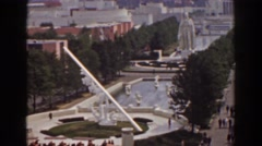 1939: the downtown area of a large city, seen at daytime NEW YORK WORLDS FAIR Stock Footage