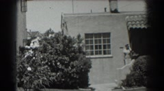 1939: late 1930s pan of small villa home SAN FRANCISCO CALIFORNIA Stock Footage