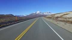 Heading up Haines Summit Late Autumn Driving POV 4 of 5 HD Stock Footage