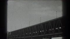 1939: triple hung suspension bridge and underside SAN FRANCISCO CALIFORNIA Stock Footage