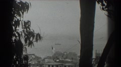 1939: hurricane makes shore by military outpost. SAN FRANCISCO CALIFORNIA Stock Footage