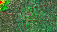 2013 Oklahoma City Metro Area Tornado (With Warn Boxes) Stock Footage
