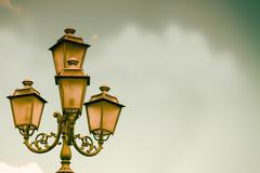 Antique Lamp Background Stock Photos