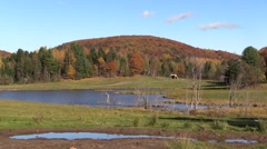 A lake and mountain in Canada Stock Footage